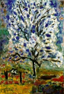 L'amandier en fleur, 1946-1947 (Paris, musée d'Orsay, en dépôt au Centre Georges-Pompidou, musée national d'Art moderne).