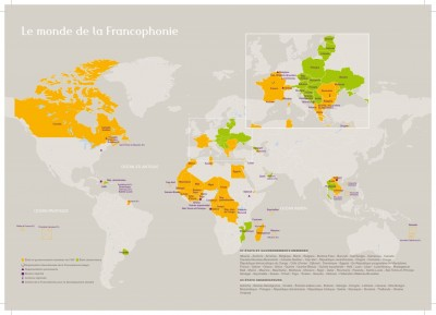 Source www.francophonie.org 10.02.2015 + Mexique, Costa Rica, Kosovo Novembre 2014