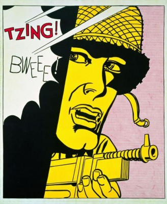 Roy Lichtenstein, Live Ammo (Tzing) – 1962- Doris & Donald Fischer collection at the SFMOMA