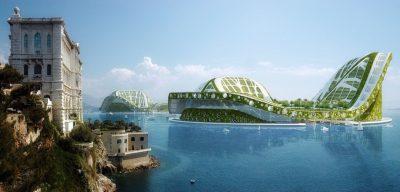Lilypad, cité flottante et écologique pour l'accueil des réfugiés climatiques, Vincent Callebaut Architectures, 2008