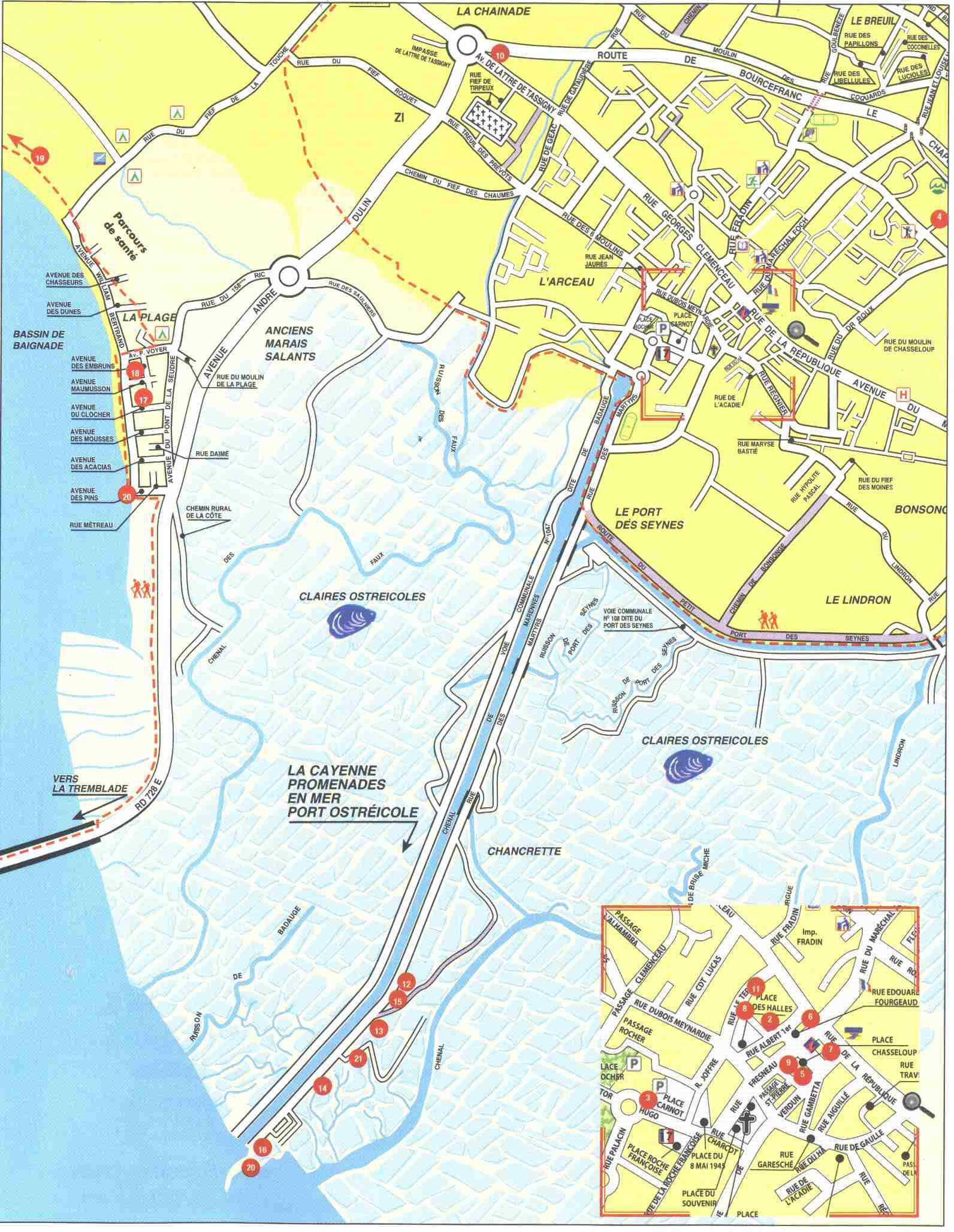 Plan Ville Fouras
