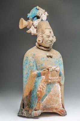 Figurine sifflet (Jaina, Campeche, Mexique, classique récent)