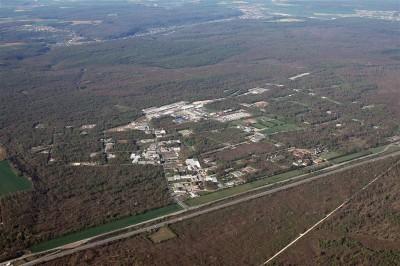 Fig.14 – Forêt de Haye; de la base de l'OTAN à la ZA de Velaine-en-Haye, en 2007