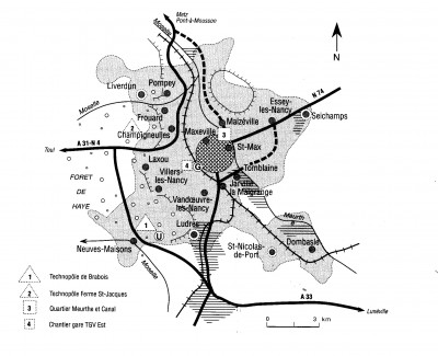 Plan de l'aire urbaine La France des Régions, Maryse Fabriès-Verfaillie et Pierre Stragiotti [Bréal]