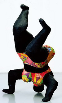 Nana noire upside down, 1656-66, Nice, collection MAMAC, donation de l'artiste en 2001.