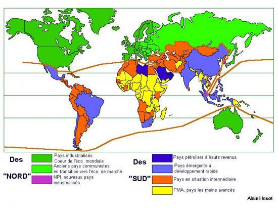 limite pays du nord et sud - Photo