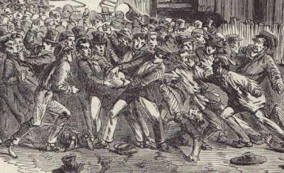 Parti de soule dans l'Angleterre du XVIIIe siècle