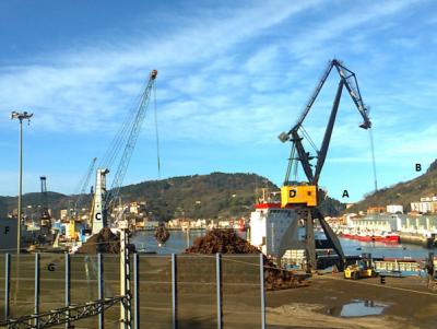 Le port de Pasaia en Espagne (« Pasaiako portua « en basque ). Cliché de Stéphane Dubois, 29 décembre 2015