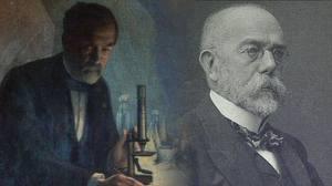 Louis Pasteur (1822-1895) et Robert Koch (1843-1910)