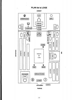 Le plan d'une loge est toujours en accord avec la symbolique de la FM