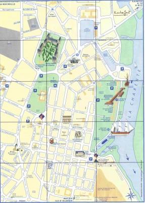 Plan de la ville de Rochefort