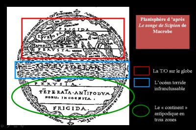 Figure 1 : La partition du globe sur une carte médiévale réalisée d'après Macrobe