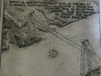 Gravure ancienne du pont transbordeur