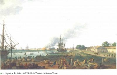 Le port de Rochefort au XVIII è. Tableau de Joseph Vernet