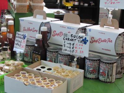 Produits de l'érable au marché Jean Talon (Montréal)