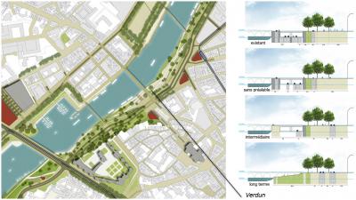 Projet d'aménagement des quai de la Maine à Angers (projet abandonné depuis)