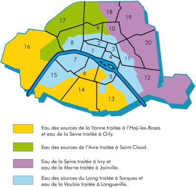 Quelle eau buvons-nous à Paris ? (source: Eau de Paris)