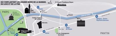 La reconversion des activités le long du canal de l'Ourcq de Paris à Bobigny (site www. archives.lesechos.fr)