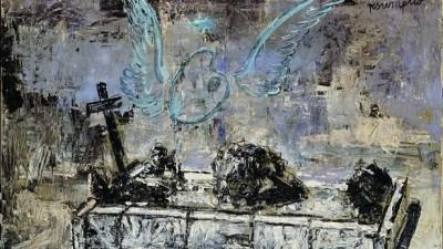Resumptio 1974 Huile, émulsion et shellac sur toile de jute, 115 x 180 cm Collection particulière Photo: © Atelier Anselm Kiefer