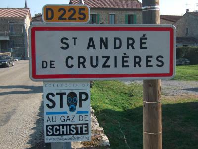 Saint-André de Cruzières, Ardèche. Source : F. Taulelle, 2014