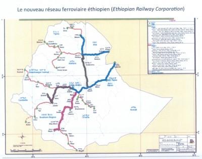 Le nouveau réseau ferroviaire éthiopien