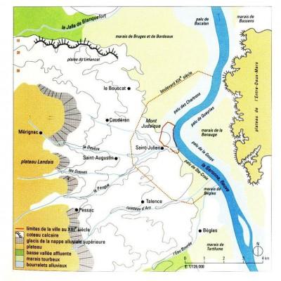 Le site de Bordeaux – Atlas historique des villes de France – Hachette-
