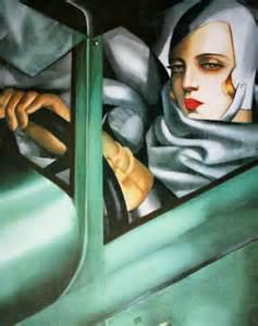 Tamara de Lempicka, Autoportrait ou Tamara dans la Bugatti verte, 1929, collection privée