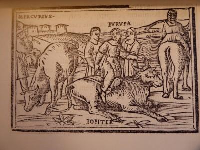 Johannes Thacuinus (1517),Gravure sur bois. Illustration de la première édition latine des Métamorphoses d'Ovide, Coll. A.R.