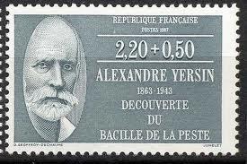 Timbre-poste à l'effigie d'Alexandre Yersin (1863-1943)
