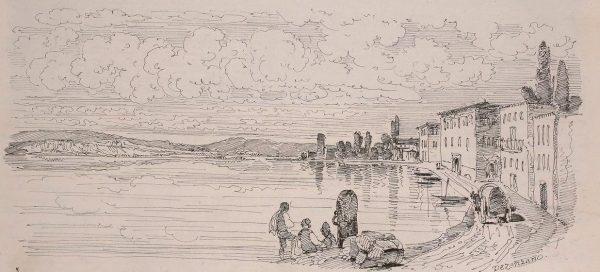 Une vue sur le lac de Garde