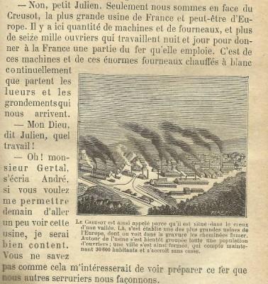 Le tour de la France par deux enfants, Devoir et Patrie, livre de lecture courante, cours moyen, Librairie classique Eugène Belin, Paris (p.111 dans l'édition de 1904)