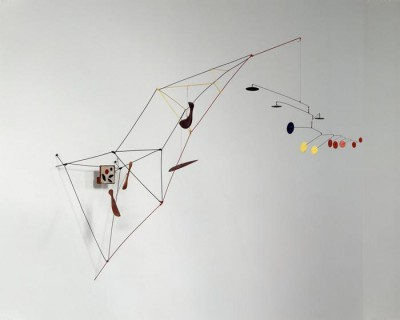 Alexander Calder, Tower with painting -1951-  Collection Doris et Donald Fisher et SFMOMA