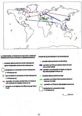 La mondialisation du marché des truffes Carte : Vincent Marcilhac