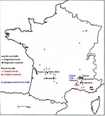 Les formes de patrimonialisation de la truffe Carte : Vincent Marcilhac