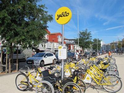 Les vélos jaunes « Yélo »